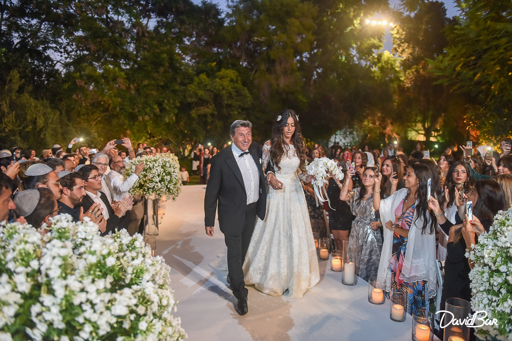 walking down the aisle with father