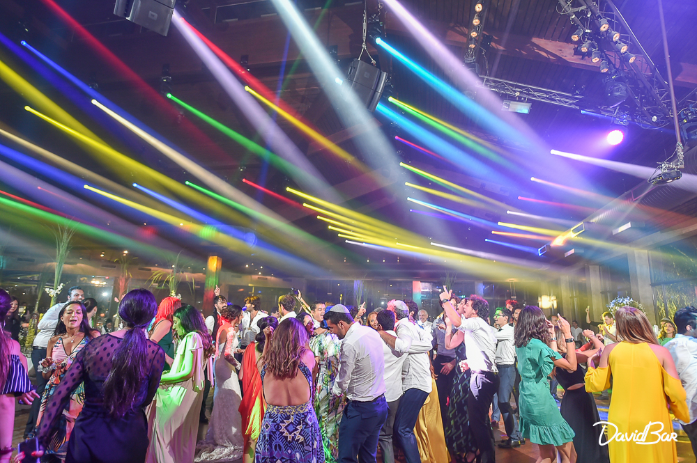 Dancing and disco party in Israel