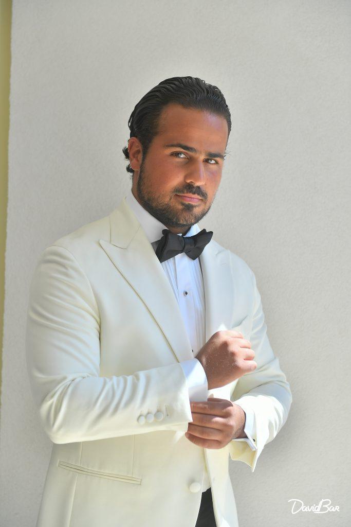 James Bond Style Groom Photograph