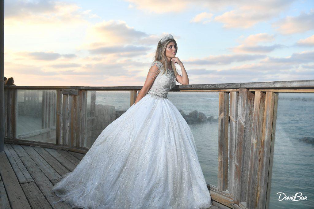 Bride modelling for wedding photoshoot