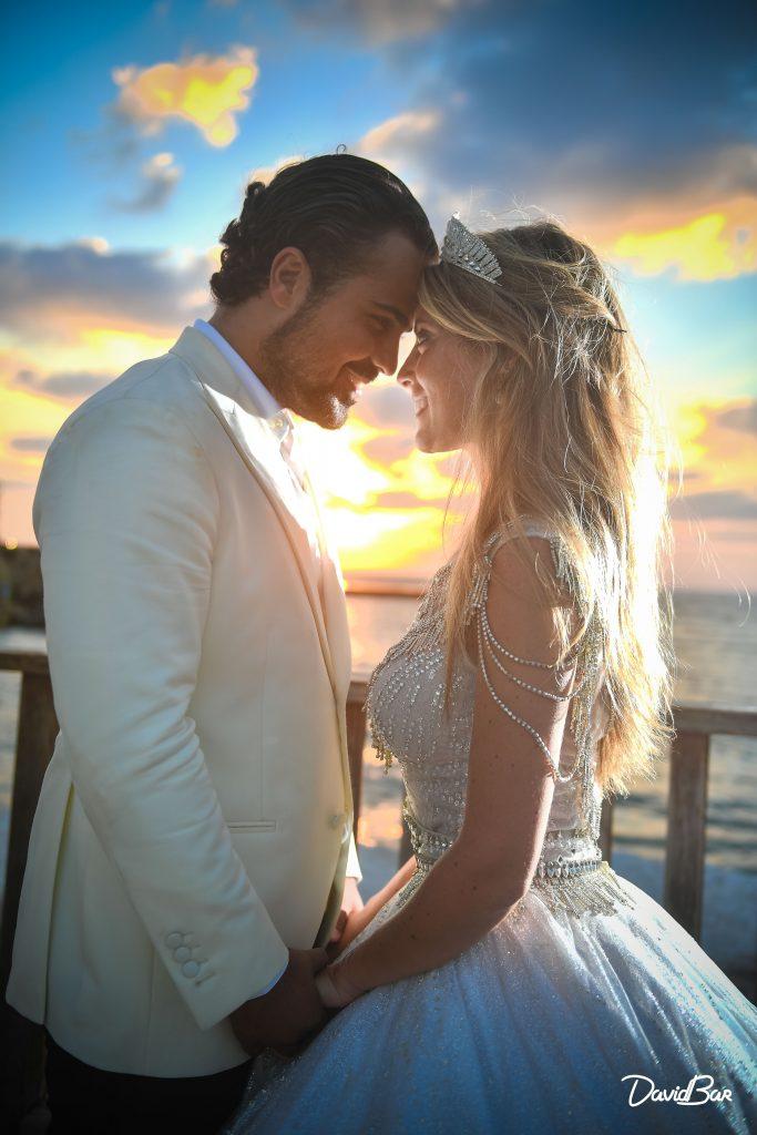 Sunset at Caesaria Wedding